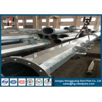 Wholesale 10 - 220KV hot dip galvanized Steel Transmission Electrical Power Pole with Overhead Line Fittings from china suppliers