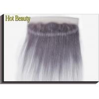 Wholesale Customized Purple Grey Human Hair Virgin Lace Frontal Straight Pre-plucked lace from china suppliers