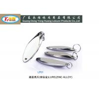 Quality 10-15-20-25G Plating Oval type Fishing Lure with zinc alloy die casting for sale