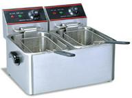 Wholesale 5.5 Liters 2 Tanks Dual Basket Deep Fryer 50 - 300 Degree CE Certification from china suppliers