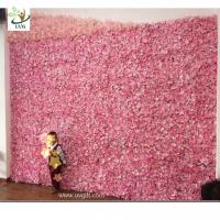 Wholesale UVG cheap wedding backdrop design plastic grid artificial flower wall and arch for wedding decor CHR1142 from china suppliers