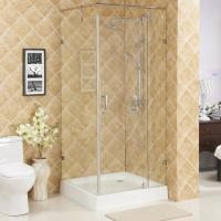 Buy cheap Hinge square shower enclosure,without tray glass shower room,wholesale shower enclosures from wholesalers