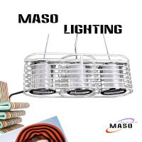 Wholesale MASO Iron Pendant Lamp MS-I6034 Acrylic Cover Three Lighting Source from china suppliers