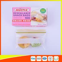 Wholesale Seals Tight Plastic Ziplock Snack Bags Reuseable With Private Lable from china suppliers
