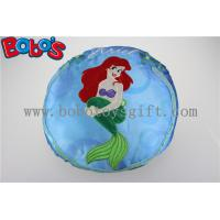Wholesale Round Stuffed Pillow with Embroidery Little Mermaid Girl from china suppliers
