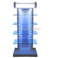Wholesale Top Illuminating Retail Gondola Shelving Metal Glass Display Stand For Merchandising from china suppliers