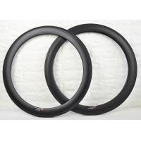 Wholesale 700c 60mm Carbon Clincher Rims , Carbon Cycling Rims To Absorb Vibrations from china suppliers
