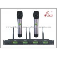 Wholesale Handheld Four Channel Receiver Audio PA Systems FM UHF Wireless Microphone from china suppliers