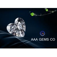 Wholesale Synthetic Colorless Moissanite Heart Cutting Shape In Size 6mm from china suppliers