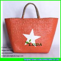 China LUDA wholesale summer straw tote bag lady seagrass straw hand bags on sale
