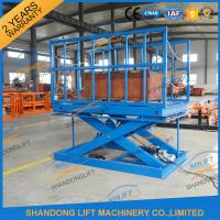 Wholesale 2T Warehouse Cargo Stationary Hydraulic Scissor Lift with Safe Sensor and Maintenance Bar from china suppliers