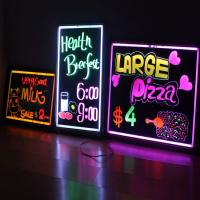 Wholesale Desktop 300x400mm engraved acrylic led advertising writing board from china suppliers