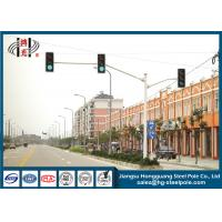 Wholesale Powder Coated Double Arms Traffic Sign Poles , Traffic Sign Posts from china suppliers