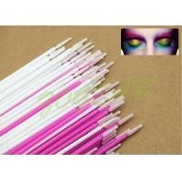 Wholesale Plating eyelash cleaner colors Micro Applicator white mauve imported soft fiber from china suppliers
