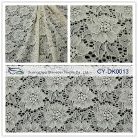 Wholesale Black Stock Color high quality Elastic Flower Lace Fabric FNS1948 from china suppliers