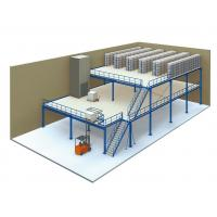 Wholesale 3 Levels Industrial Mezzanine Floors , Blue / Orange Platform Storage Systems from china suppliers