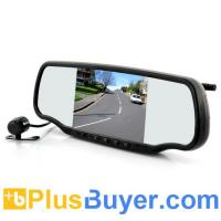 Wholesale 5 Inch Car Rear View Mirror with Dashcam and Wireless Parking Camera (GPS, Speed Radar Detector, Bluetooth) from china suppliers