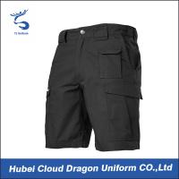 Wholesale Black Short Tactical Combat Pants Lightweight For Police / Law Enforcement from china suppliers