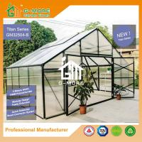 Wholesale 406x506x302cm Super Strong 4 Seasons Aluminum/10MM Polycarbonate Large Green House from china suppliers