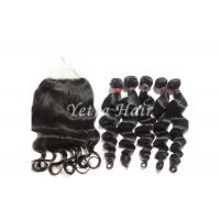 Wholesale No Tangle 100g Virgin Brazilian Loose Wave Hair / Human Hair Weave Bundles from china suppliers