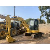 China PC55MR-2 Used KOMATSU Excavator With Rubber Track Shoe No Oil Leakage on sale