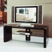 Wholesale TV Stands with 6mm Clear Shelves and MDF Black HG, Measures 1,400 x 500 x 600mm from china suppliers