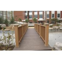 Wholesale Outdoor WPC Garden Fence , Waterproof Railing For Safety / Decoration from china suppliers