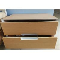 Modern and fashionable sturdy storage wood cabinets, 2 drawers and stable steel supporting legs