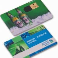 Wholesale Plastic Customised Name Card USB 2.0 Flash Drive 128GB , 4 -10MB/S Write from china suppliers