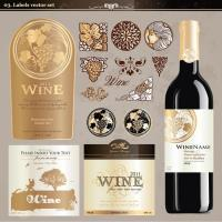 Wholesale Birthday Wine Sticker Labels Embossed Printing Paper For Wine Glass Bottles from china suppliers