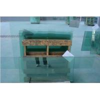 12mm Clear Laminated Flat Tempered Glass Shatterproof For Showcase , Self-cleaning