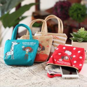 Wholesale Wholesale Korean cute pula girl hand carry canvas coin purse cartoon cute cloth key bag coin bag from china suppliers