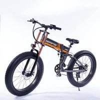 Wholesale 21 Speed Off Road Ebike , Snow Electric Mountain Bicycles Fat Tire 26 Inch from china suppliers