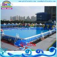 Wholesale 2015 new removable above ground steel frame swimming pool from china suppliers