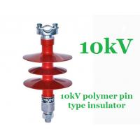 Wholesale IEC 61109 Composite Polymer Pin Insulator , Pedestal 11 Kv Post Insulator from china suppliers