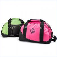 Wholesale Ladies Wasabi / Pink Front Zippered Pocket Personalized Sports Bag Side Grab Handle from china suppliers