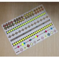 Wholesale Gold Jewelry Metallic Temporary Tattoos Stickers Neon Color Semi Permanent from china suppliers