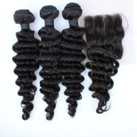 Wholesale wholesale 8A grade cheap 3 parting lace closure brazilian virgin hair bundles with lace closure from china suppliers