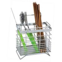 Wholesale Flatware Caddy Chrome Wire Chopsticks Rack Home Kitchenware Knife and Fork Caddy from china suppliers