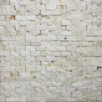 Wholesale 15 x 30 x 7 to 9mm Chip Natural Marble Stone Mosaic, Available in Red, with Polished Surface from china suppliers