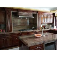 Wholesale Classic Villa Cherry Wood Kitchen Cabinets With Stainless Steel Appliances from china suppliers