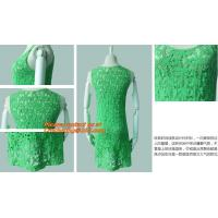 Wholesale Casual Fashion, Vintage O-Neck, Sleeveless, Women Long Crochet, Chiffion Blouse Plus Size from china suppliers