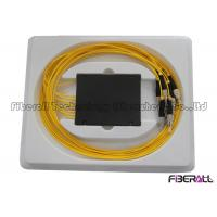Wholesale Yellow Jacket Fiber Optic PLC Splitter With 2.0mm Fiber Pigtail Low PDL Loss from china suppliers