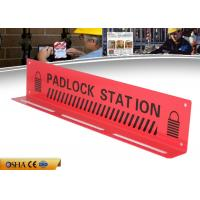 Wholesale ZC-S003 Durable Red Lockout Tagout Station , 417g Steel Material Lockout Board from china suppliers