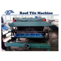 Wholesale Metal Roof Tile Roll Forming Machine With Simens PLC Control System from china suppliers