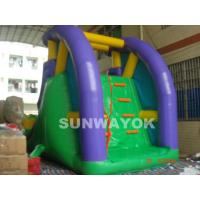 Wholesale Custom 0.55 mm PVC / plato TM Inflatable Water Slide With Climber for aqua park from china suppliers