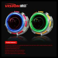 Wholesale 2.5 Inch Car/Motorcycle HID Bi-xenon projector Lens light with Dual CCFL Angel eye Car Accessories for Carmmry /Honda from china suppliers