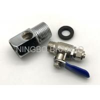 Wholesale Zinc Alloy Ball Valve And 3 Way Adapter for Reverse Osmosis Parts Water Purifier from china suppliers