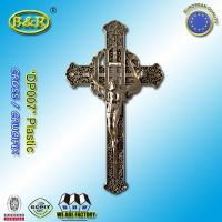Wholesale Plastic Golden Color Funeral Cross and Crucifix DP007 30cm*17cm plasticos crucifijos y cristos from china suppliers
