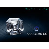 Wholesale Professional Asscher Cut Synthetic Moissanite Colorless 7.5mm from china suppliers